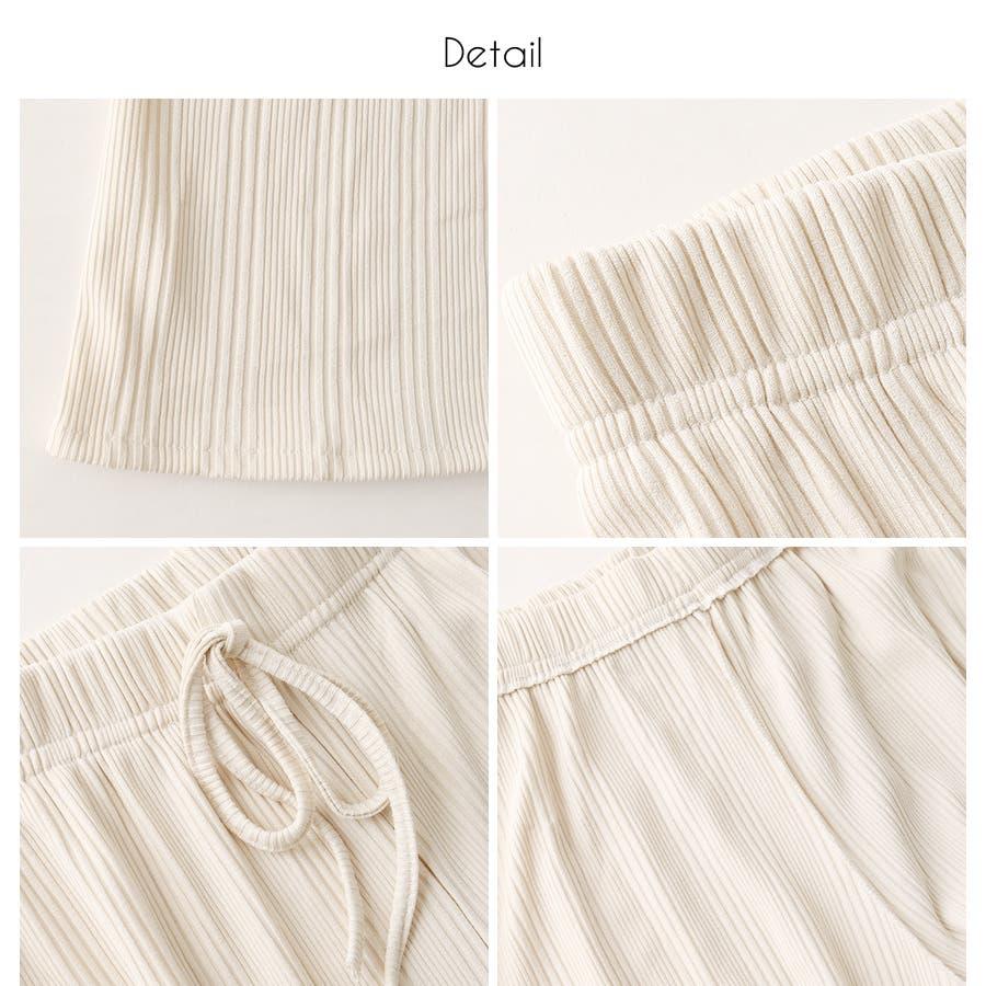 マルチリブワイドパンツ/ルームウェア/韓国ファッション 4