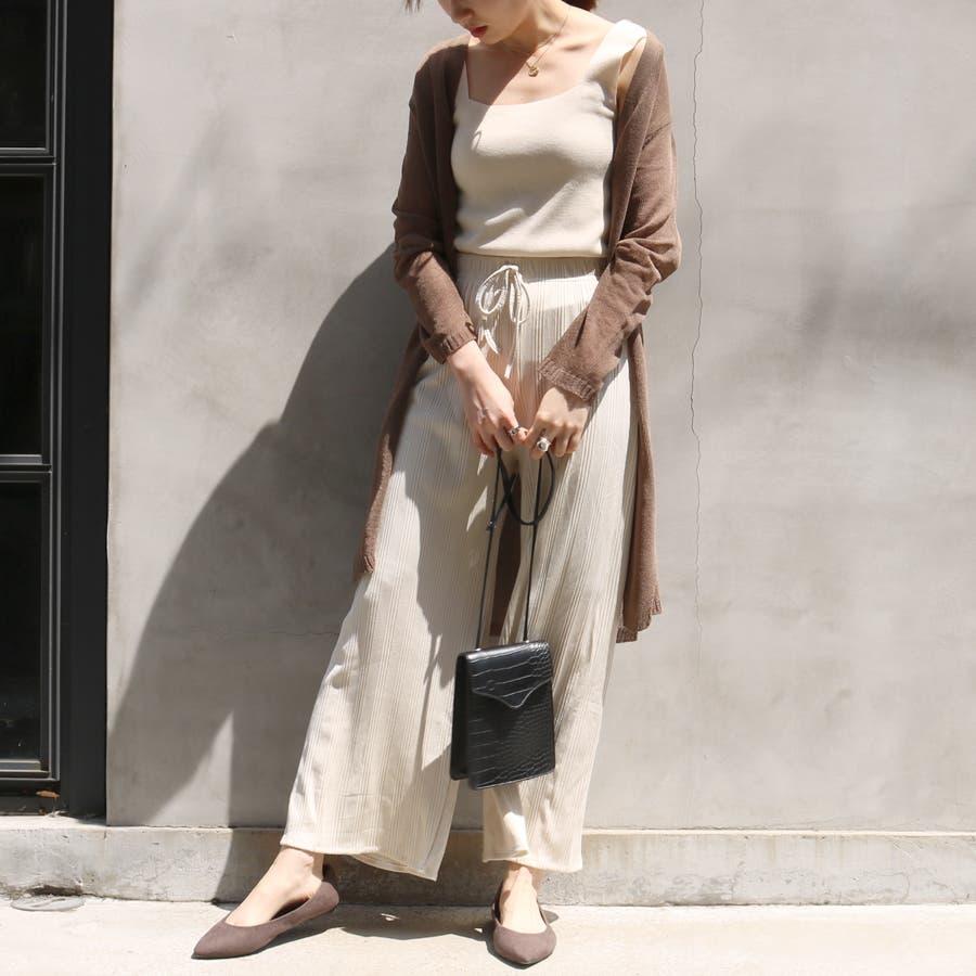 マルチリブワイドパンツ/ルームウェア/韓国ファッション 5