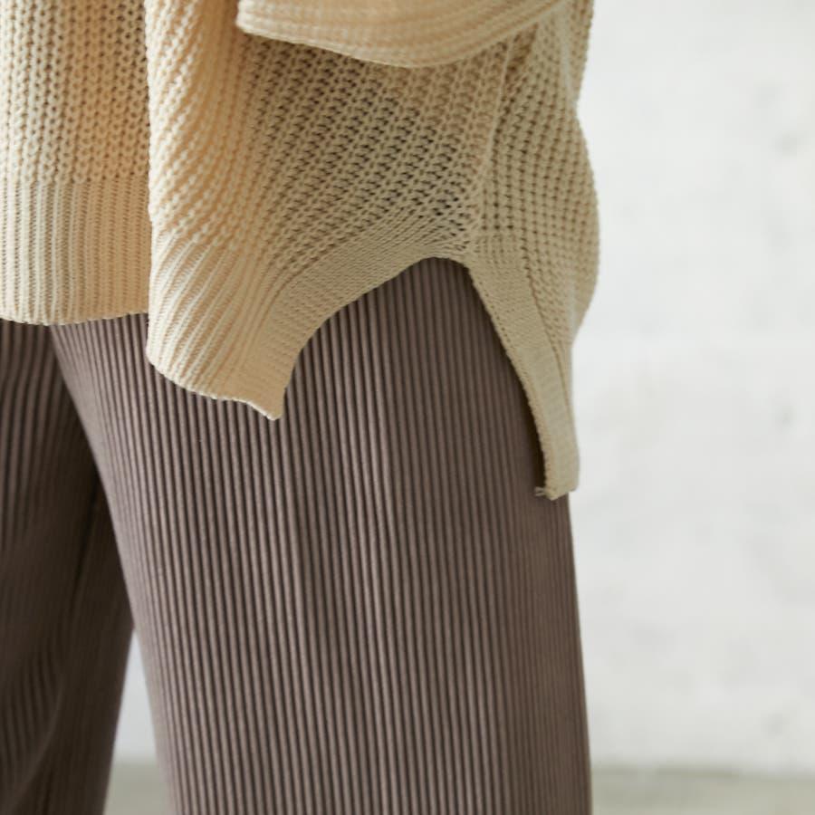 フレアスリーブVネックニット/トップス/韓国/レディースファッション/秋冬 9