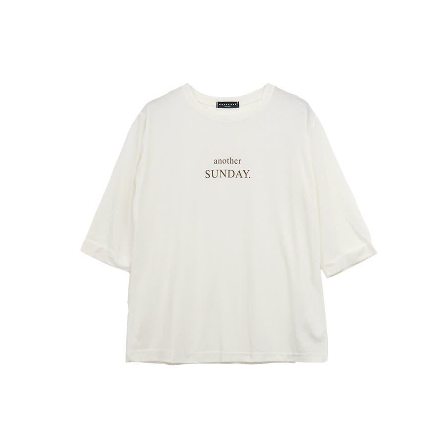 ロゴ七分袖Tシャツ/anotherSUNDAY/トップス 17