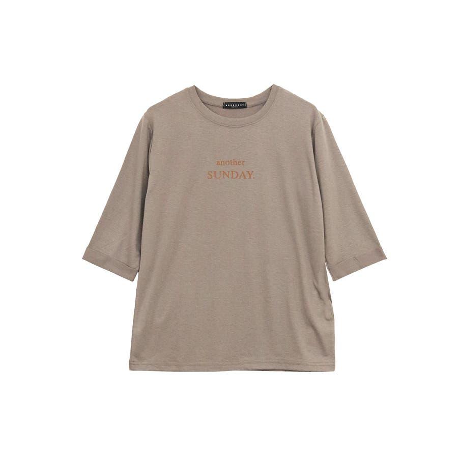 ロゴ七分袖Tシャツ/anotherSUNDAY/トップス 23