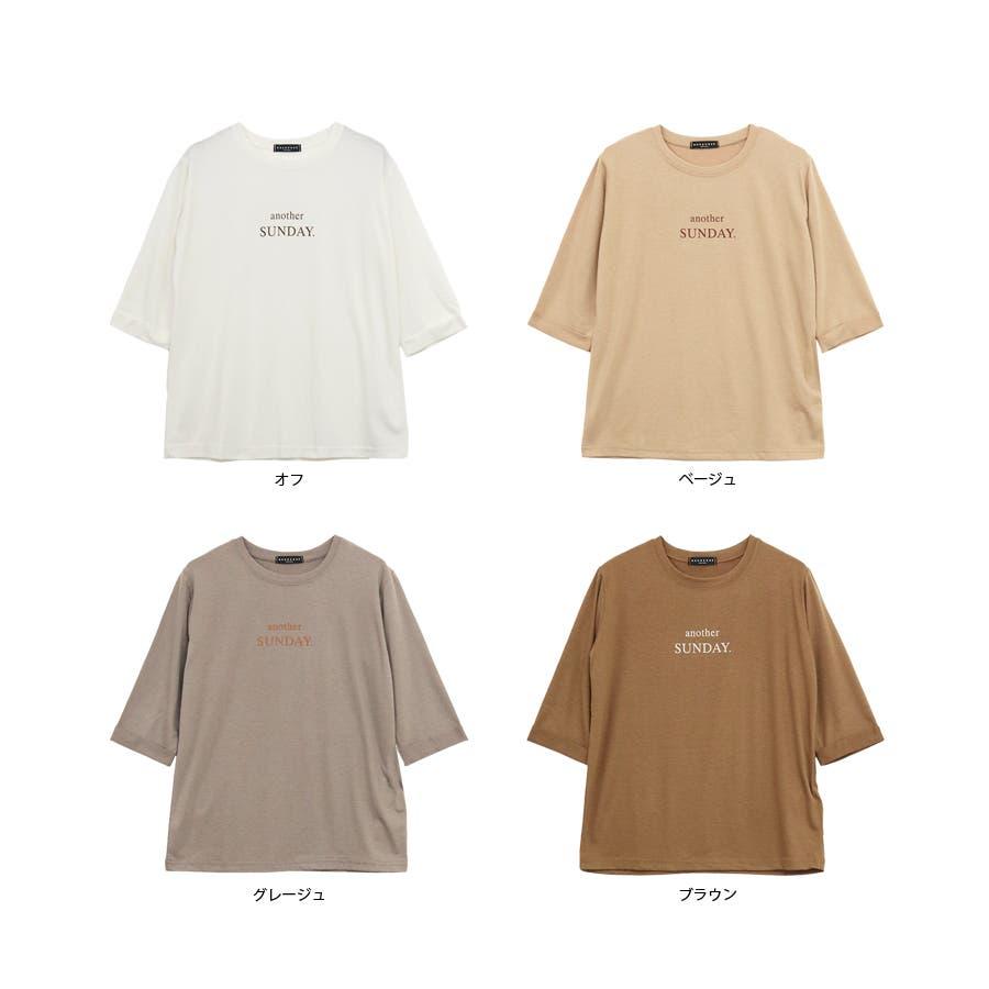 ロゴ七分袖Tシャツ/anotherSUNDAY/トップス 3