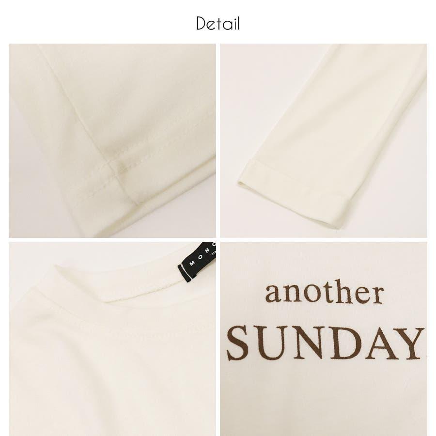 ロゴ七分袖Tシャツ/anotherSUNDAY/トップス 4