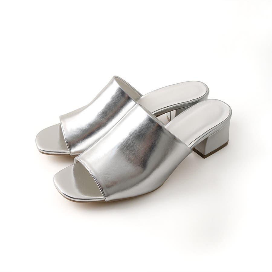 ワンバンドヒールサンダル/シューズ/靴/ミュール/春夏/カラー/ベーシック/シンプル 103
