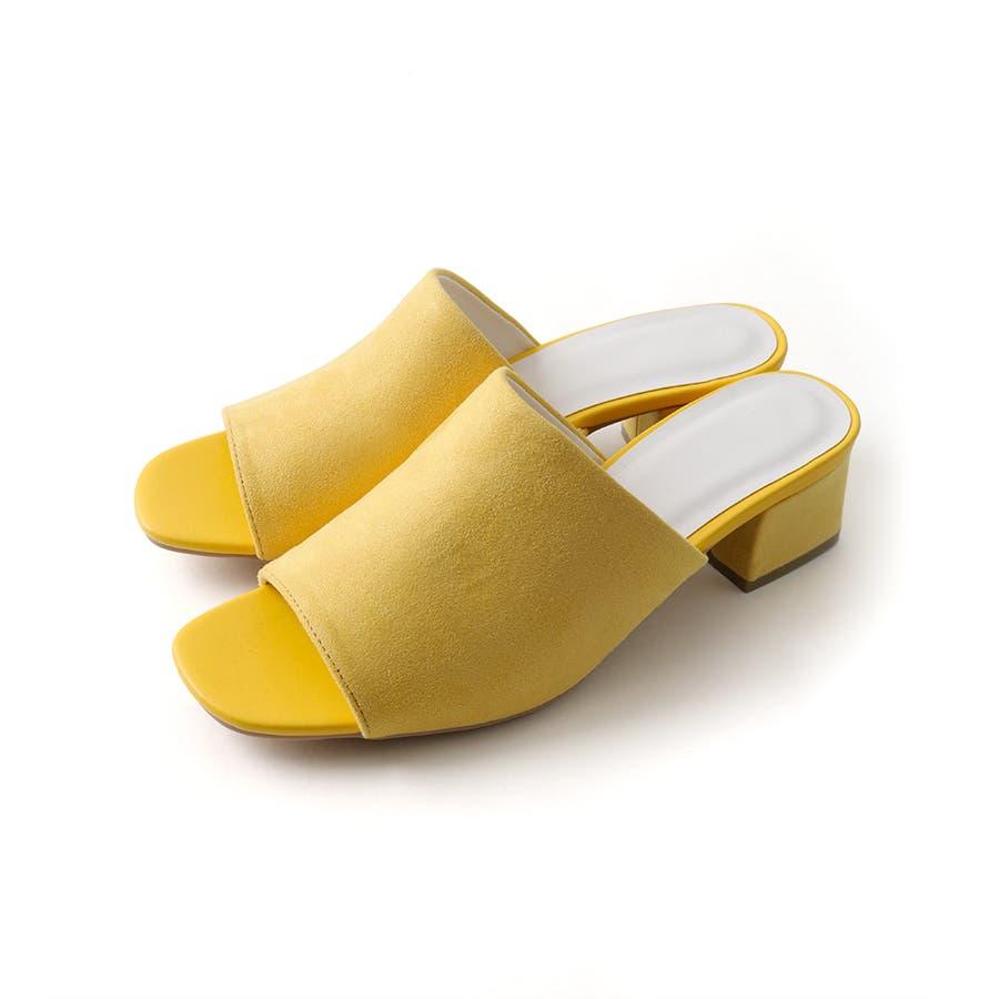 ワンバンドヒールサンダル/シューズ/靴/ミュール/春夏/カラー/ベーシック/シンプル 83