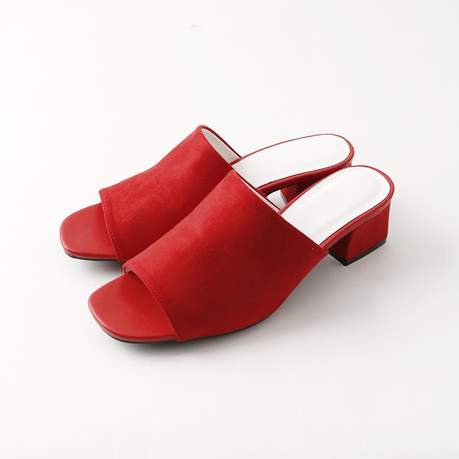 ワンバンドヒールサンダル/シューズ/靴/ミュール/春夏/カラー/ベーシック/シンプル 94