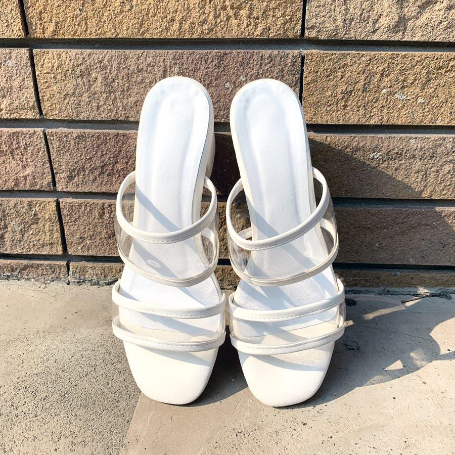 クリアダブルバンドサンダル/シューズ/靴/ミュール/春夏 5