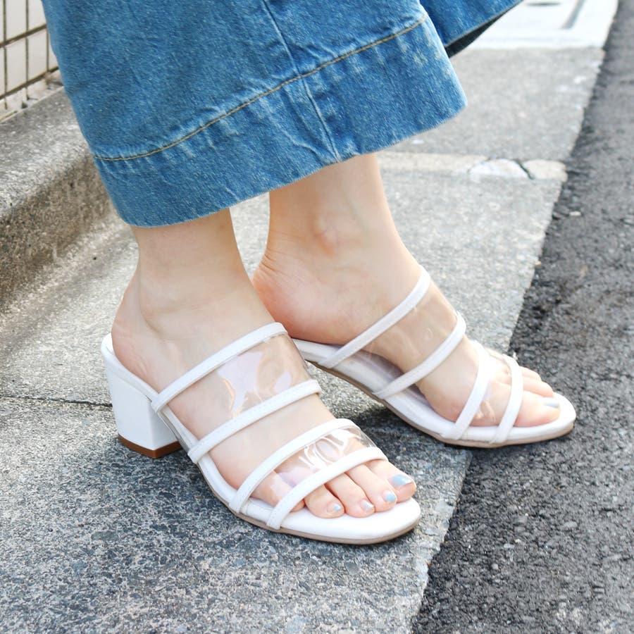 クリアダブルバンドサンダル/シューズ/靴/ミュール/春夏 9