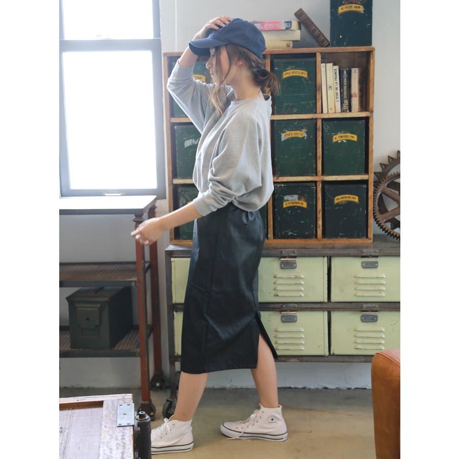 フェイクレザーミディタイトスカート/秋冬 7