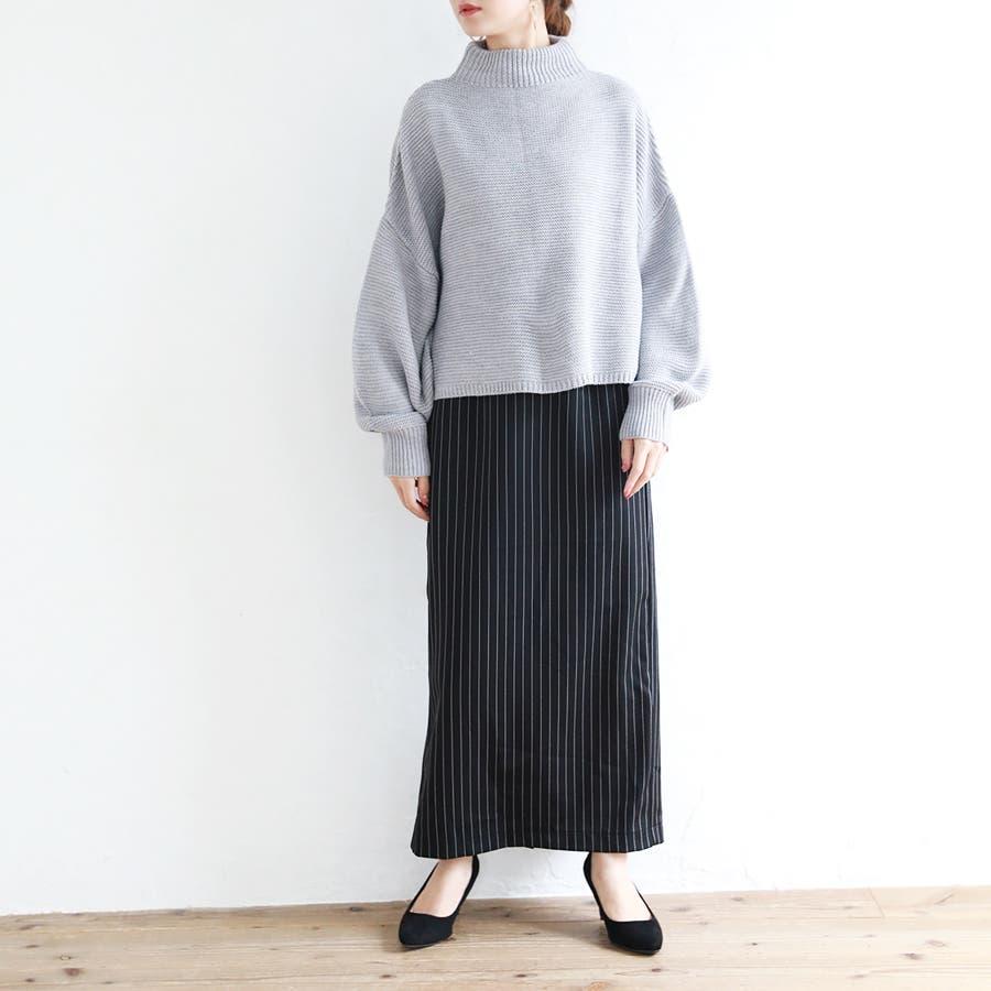 ストライプタイトスカート/秋冬 5