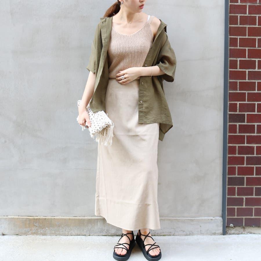 半袖シースルーオーバーサイズシャツ/トップス/シアー素材 2