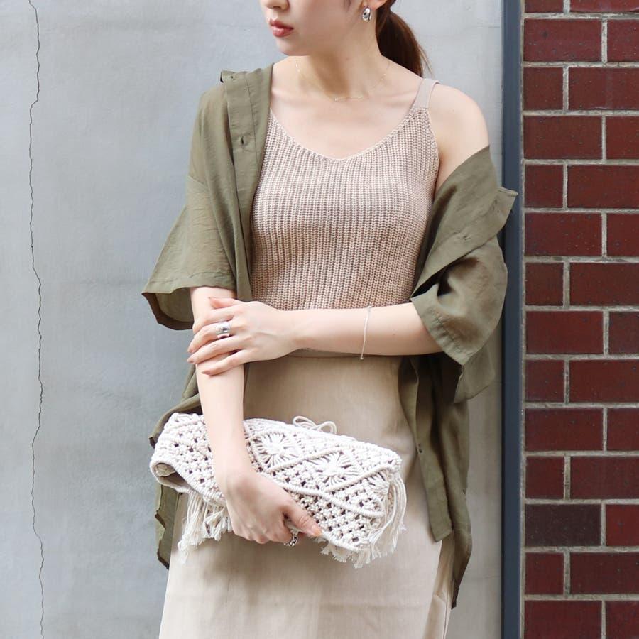 半袖シースルーオーバーサイズシャツ/トップス/シアー素材 3