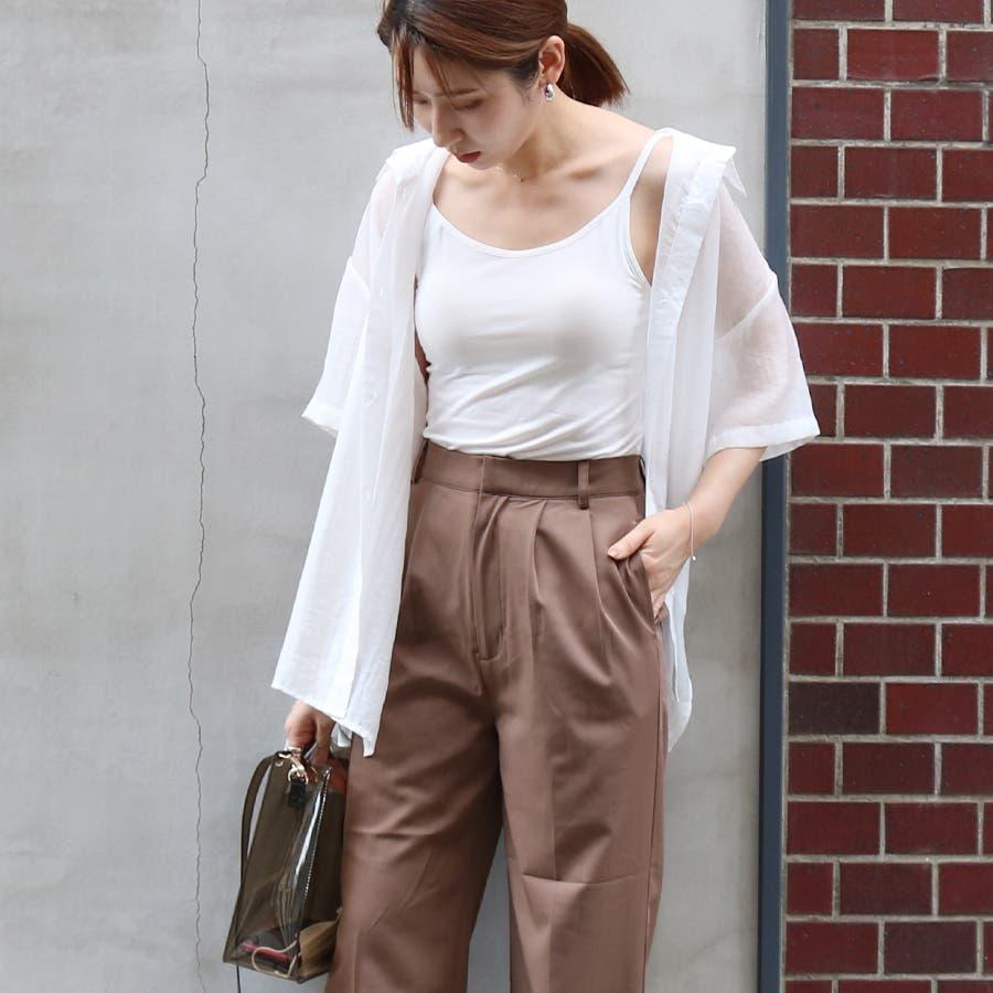 半袖シースルーオーバーサイズシャツ/トップス/シアー素材 17