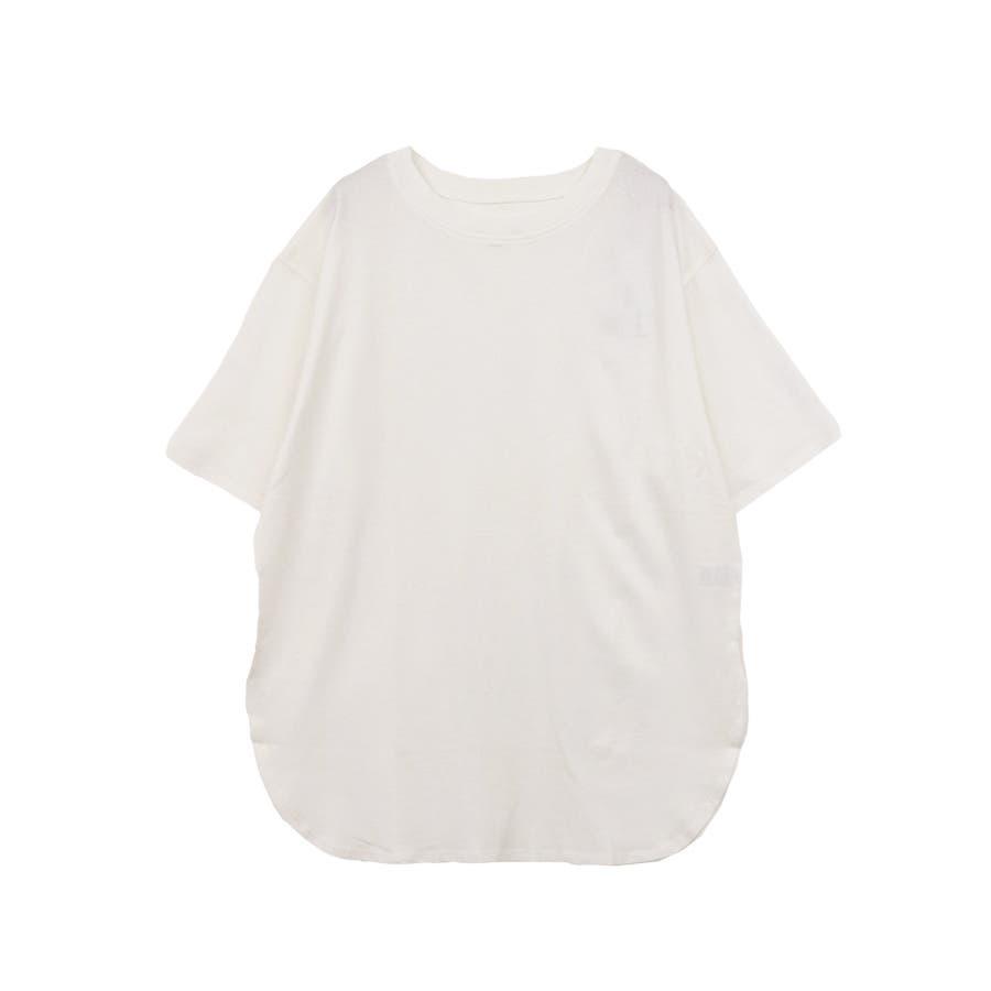 【8color】ラウンドヘムオーバーサイズ半袖Tシャツ/トップス/半そで/カラバリ/カジュアル 17