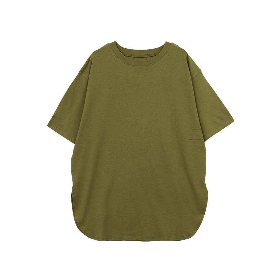 【8color】ラウンドヘムオーバーサイズ半袖Tシャツ/トップス/半そで/カラバリ/カジュアル 53