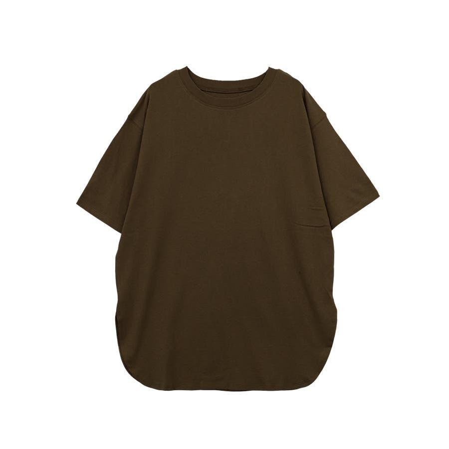 【8color】ラウンドヘムオーバーサイズ半袖Tシャツ/トップス/半そで/カラバリ/カジュアル 29