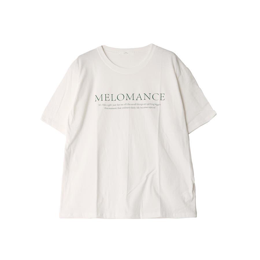 ロゴ入半袖Tシャツ/MELOMANCE/トップス/韓国製 17