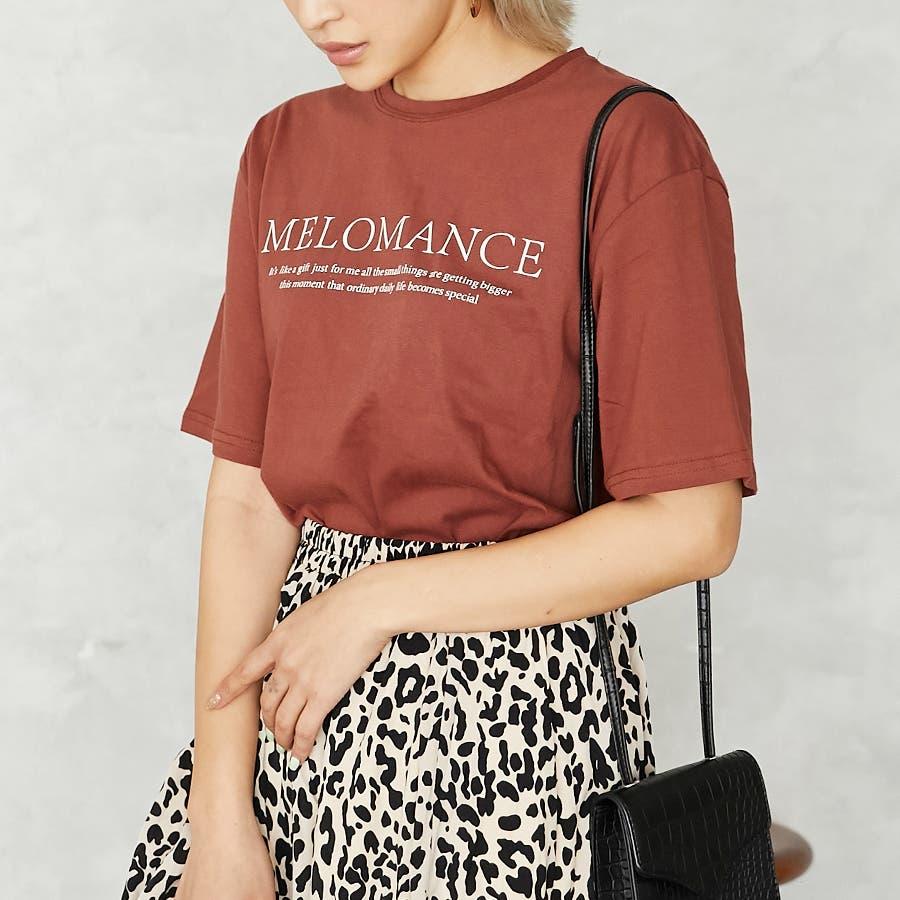 ロゴ入半袖Tシャツ/MELOMANCE/トップス/韓国製 29