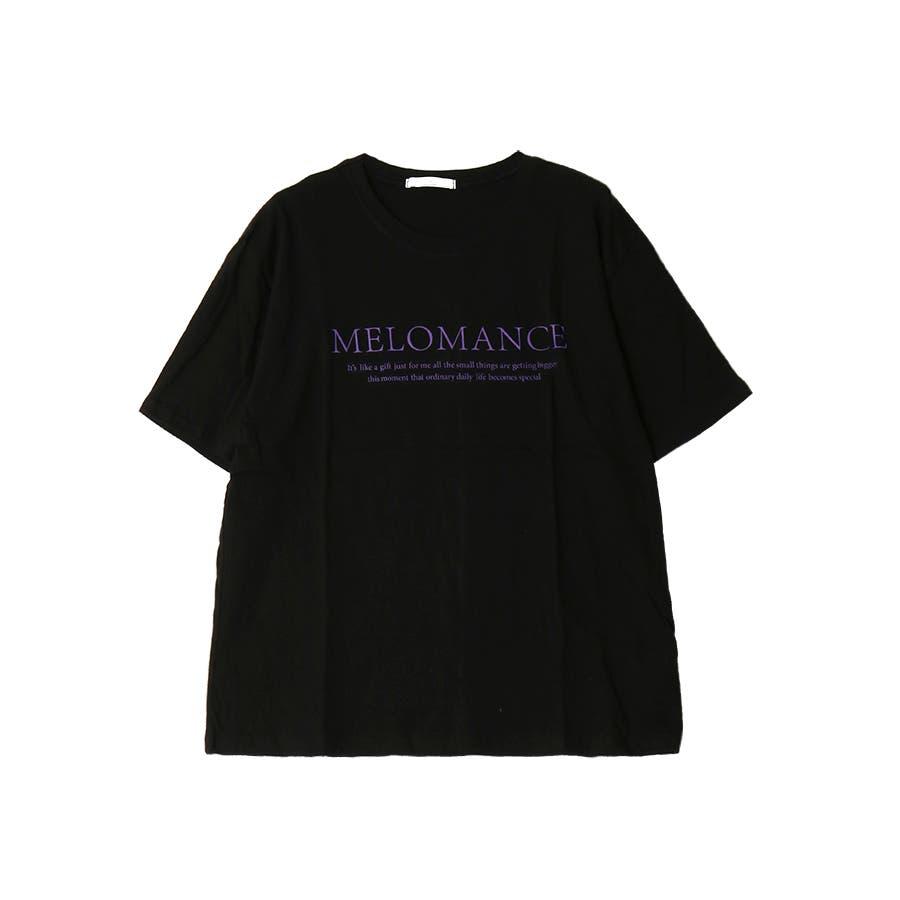 ロゴ入半袖Tシャツ/MELOMANCE/トップス/韓国製 21