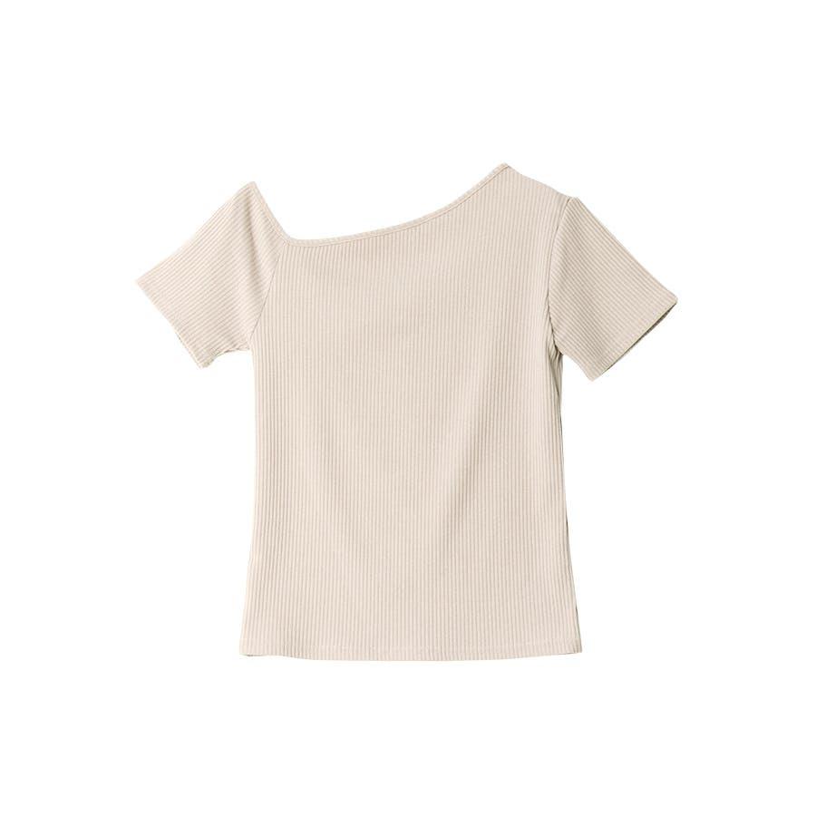 テレコアシメTシャツ/トップス 18