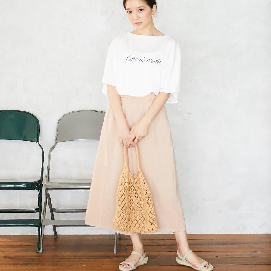 スリットフレア袖ロゴTシャツ/春夏 2