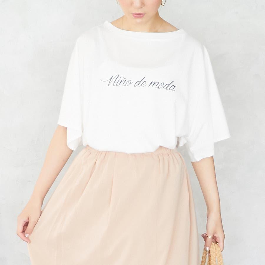 スリットフレア袖ロゴTシャツ/春夏 3