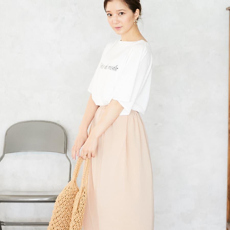 スリットフレア袖ロゴTシャツ/春夏 4