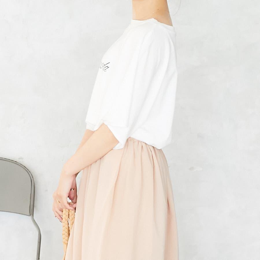 スリットフレア袖ロゴTシャツ/春夏 5