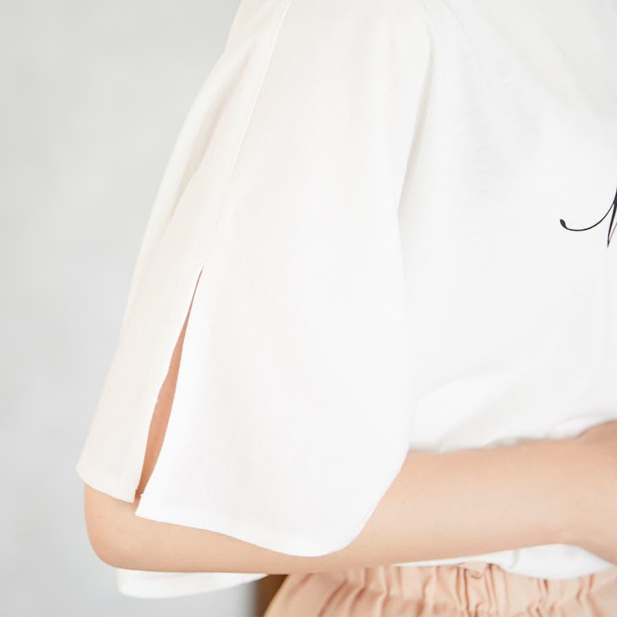 スリットフレア袖ロゴTシャツ/春夏 8