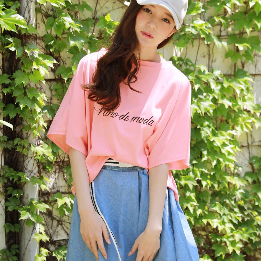スリットフレア袖ロゴTシャツ/春夏 87