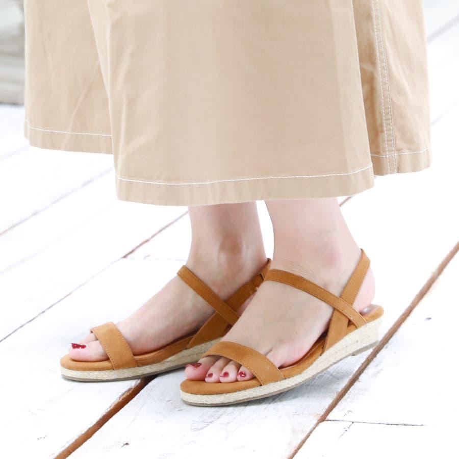 【6colorから選べる】3cmジュートストラップサンダル/シューズ/靴/春夏 1