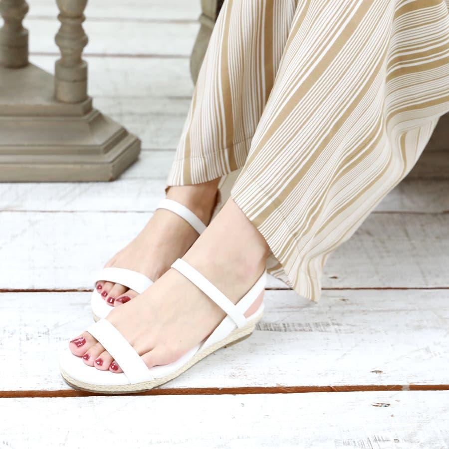 【6colorから選べる】3cmジュートストラップサンダル/シューズ/靴/春夏 4