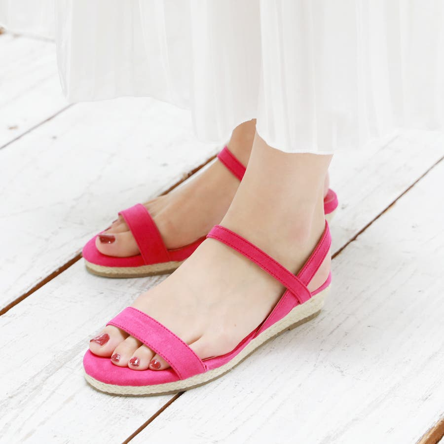 【6colorから選べる】3cmジュートストラップサンダル/シューズ/靴/春夏 5
