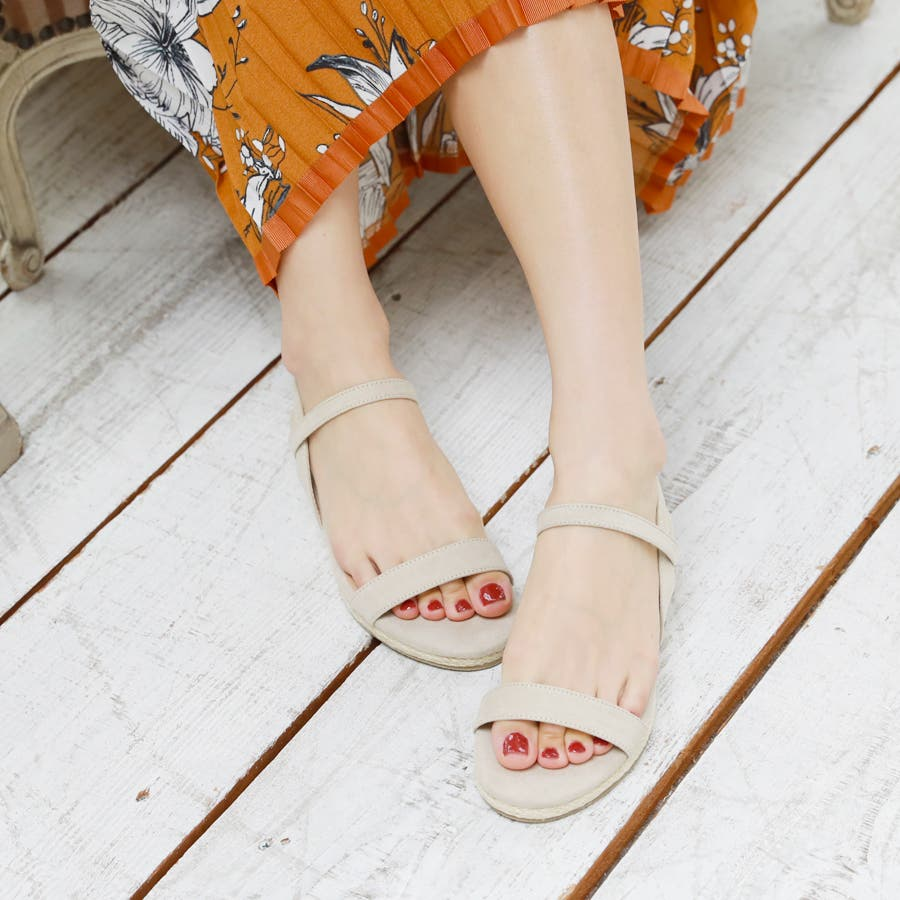 【6colorから選べる】3cmジュートストラップサンダル/シューズ/靴/春夏 6