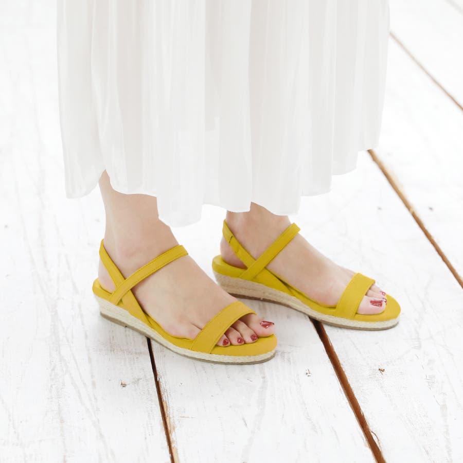 【6colorから選べる】3cmジュートストラップサンダル/シューズ/靴/春夏 8