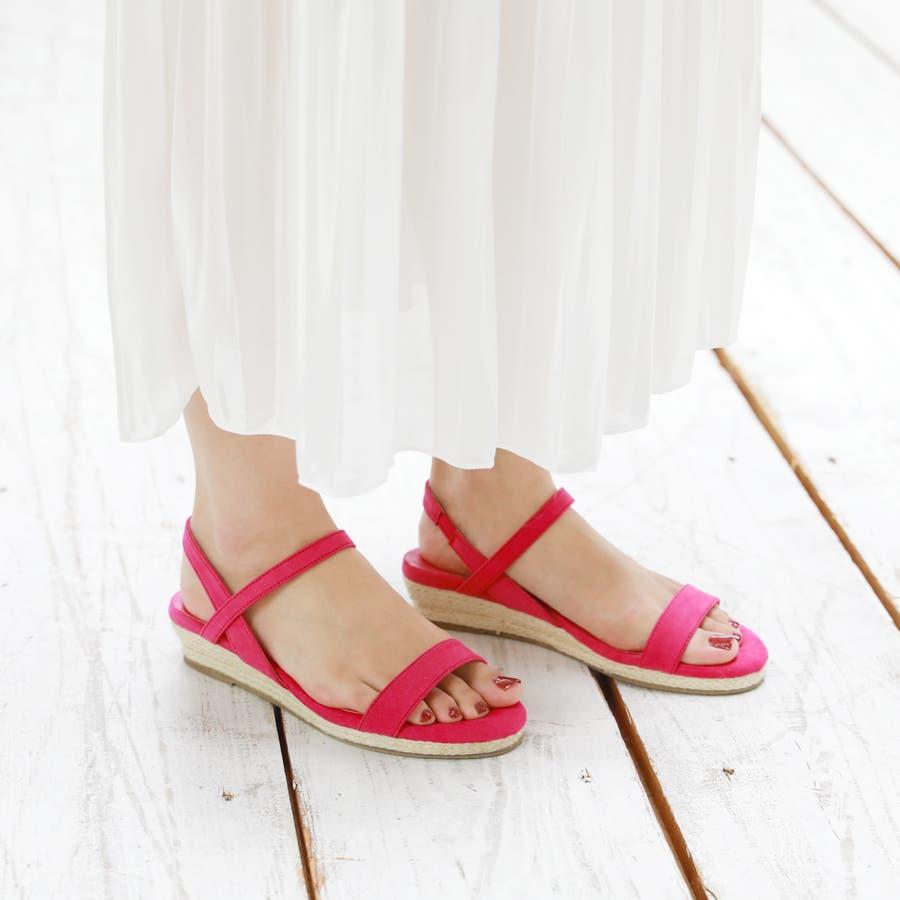 【6colorから選べる】3cmジュートストラップサンダル/シューズ/靴/春夏 9