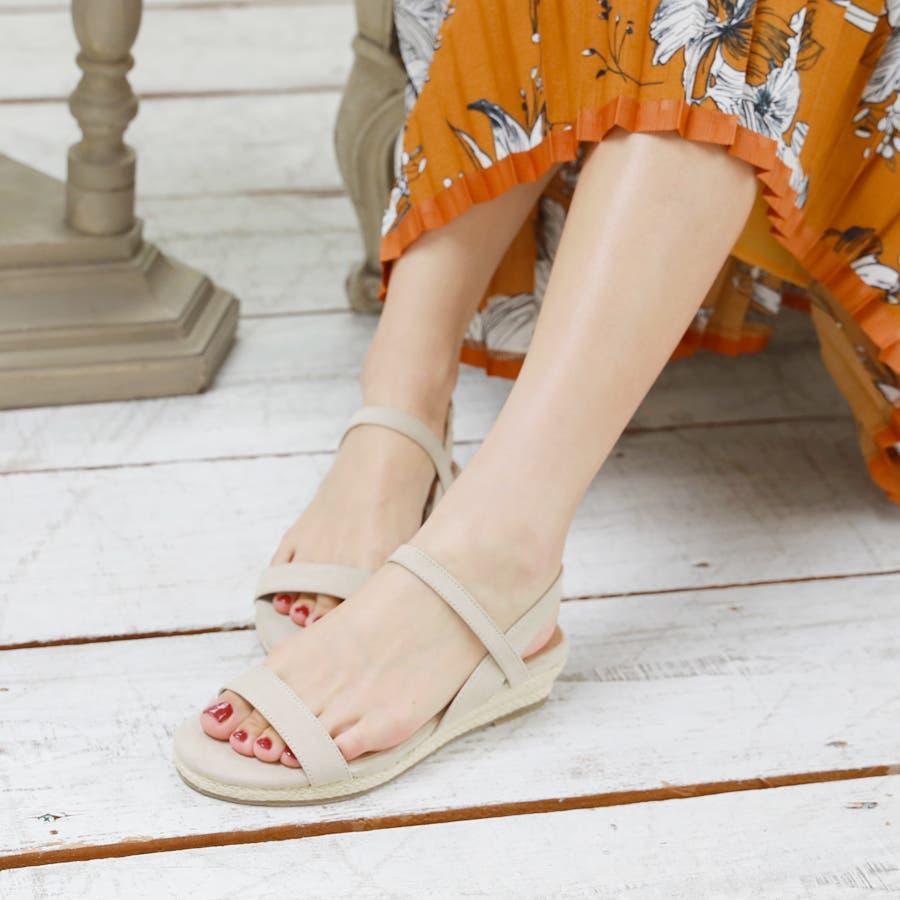 【6colorから選べる】3cmジュートストラップサンダル/シューズ/靴/春夏 10