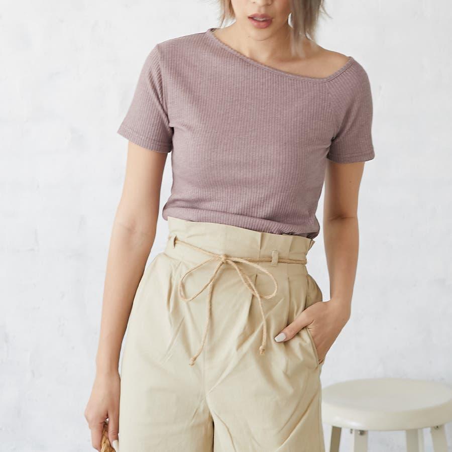 テレコアシメTシャツ/トップス 5