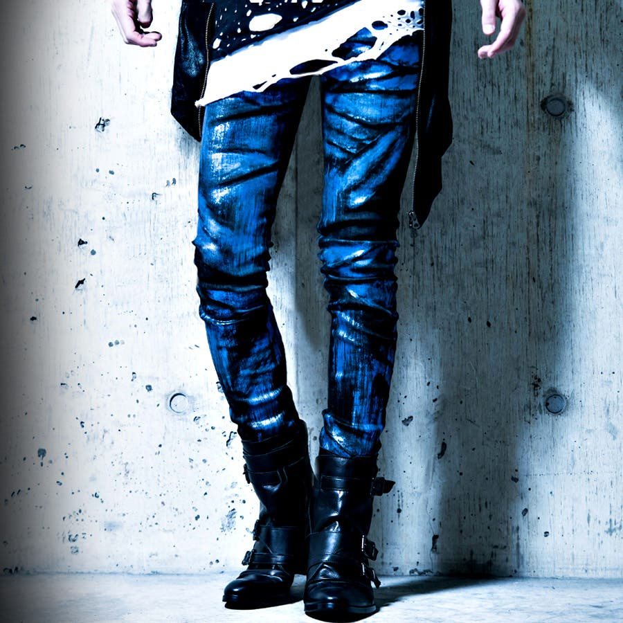 """CIVARIZE【シヴァーライズ】Avid カラー箔加工ストレッチスキニーデニムパンツ/全2色""【日本製】【デニムパンツスキニーパンツ デニム ヴィジュアル系 V系 パンツ Visual メンズ ファッション 服 ボトムス】 8"