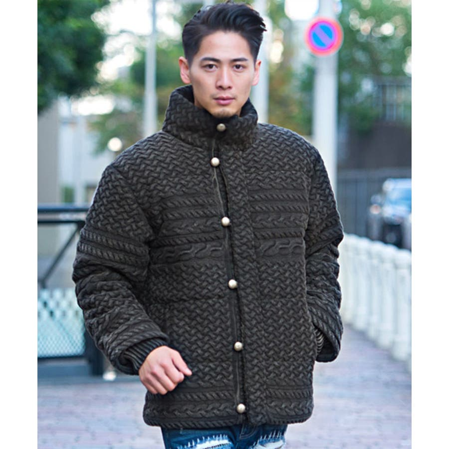 中綿ジャケット ニット ブルゾン 21