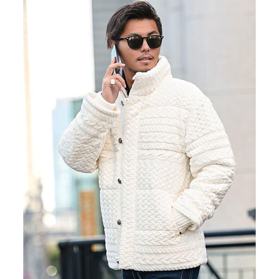 中綿ジャケット ニット ブルゾン 16