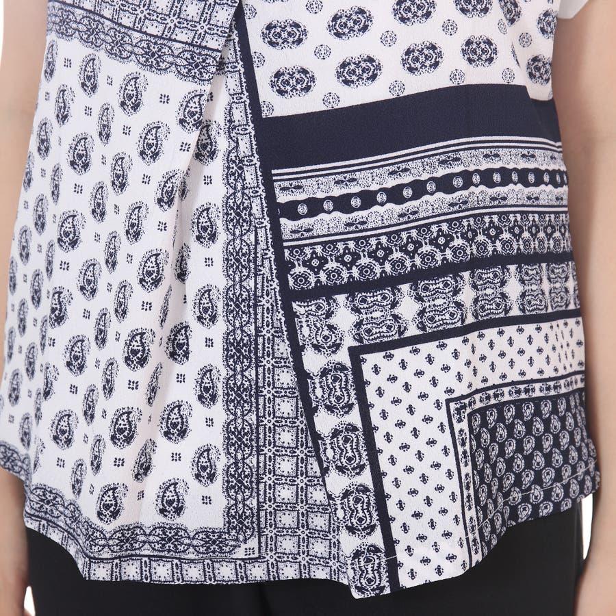 スカラップTシャツ+キャミソールセットアップ/トップス ボヘミアン 夏 トップス 半袖 5