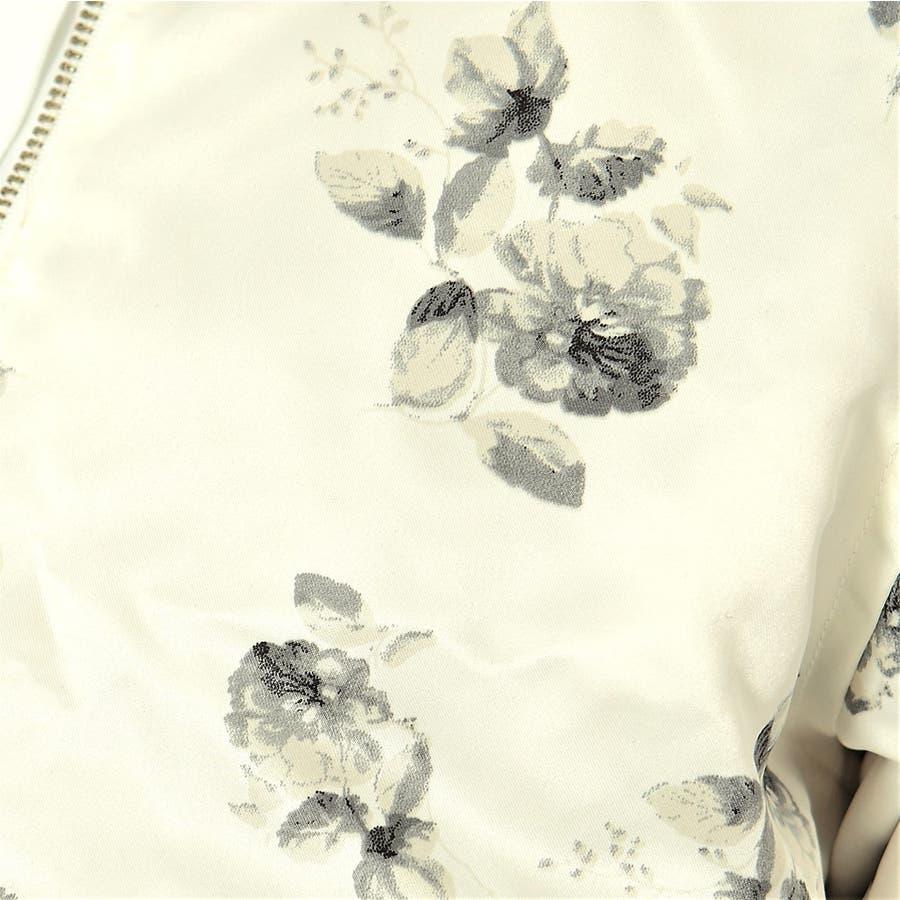 花柄サテンxエステルツイルリバーシブルMA-1/ブルゾン 7