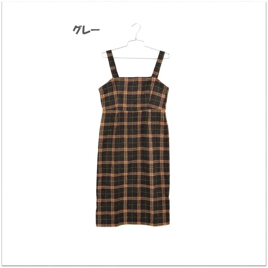 起毛チェックジャンパースカート/ワンピース 10