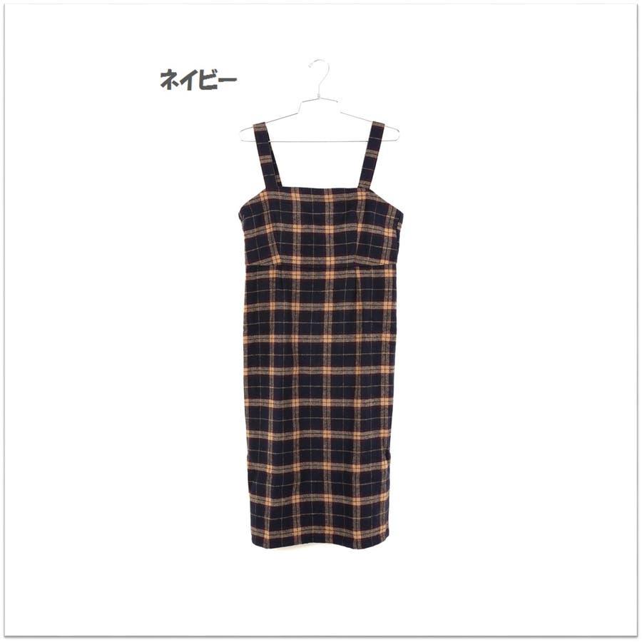 起毛チェックジャンパースカート/ワンピース 11