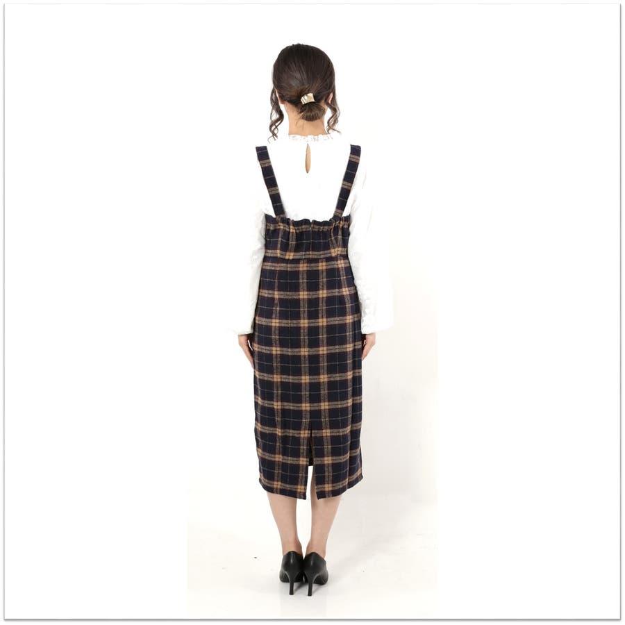 起毛チェックジャンパースカート/ワンピース 5