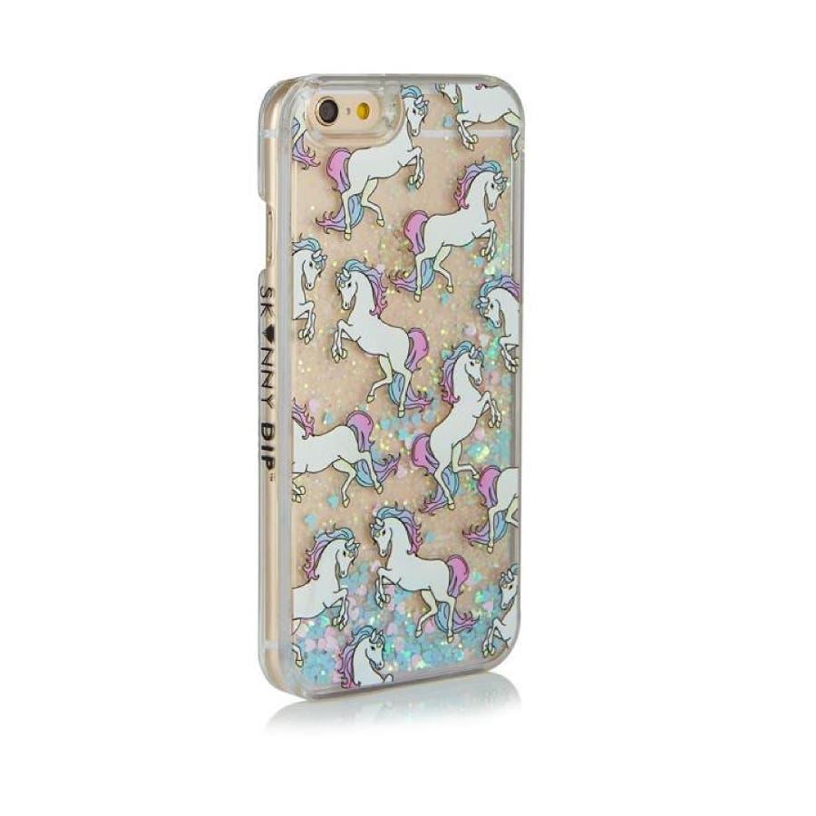 SKINNYDIP iPhone8/7/6S/6用ケース ユニコーン リキッドグリッター 2