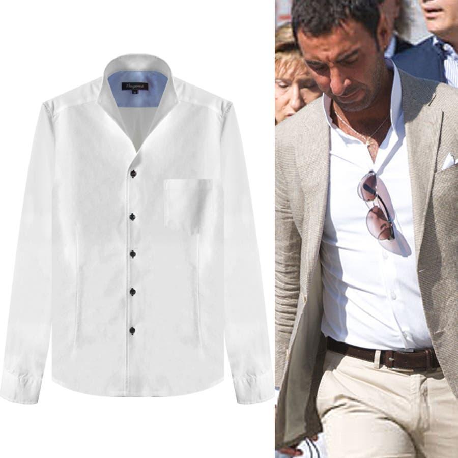 プレミアムクリアイタリアンカラーシャツ【白シャツ メンズ】(ボタンダウンシャツ オックスフォードシャツ