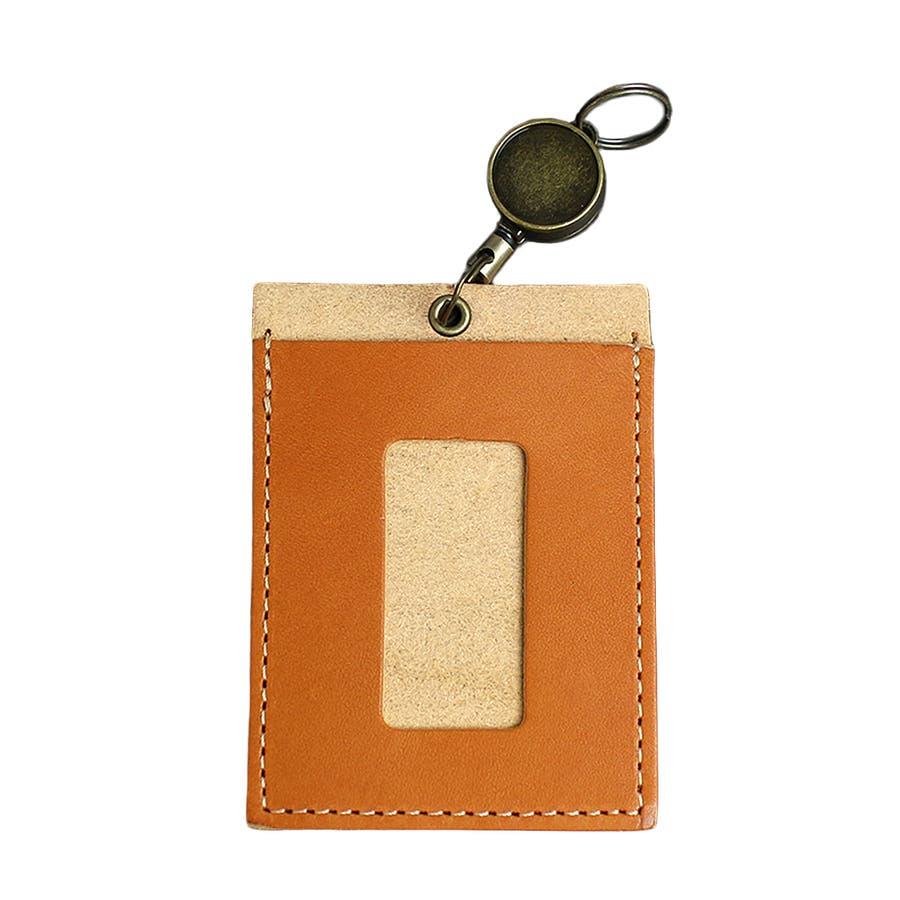 高品質 安心の日本製本革 栃木レザー[ジーンズ]リール付きパスケース 定期入れ ICカード入れ 通勤に 通学に カードケースバッグチャーム バッグにつける メンズ レディース ユニセックス L-20264 6