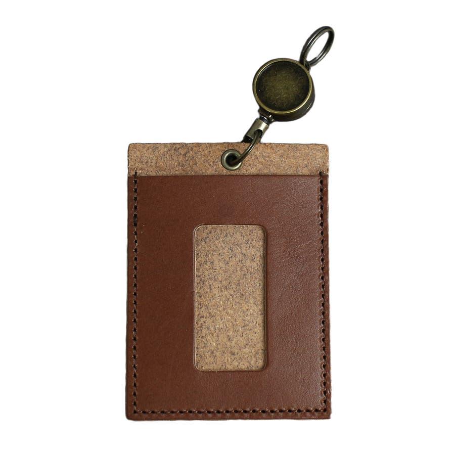 高品質 安心の日本製本革 栃木レザー[ジーンズ]リール付きパスケース 定期入れ ICカード入れ 通勤に 通学に カードケースバッグチャーム バッグにつける メンズ レディース ユニセックス L-20264 7